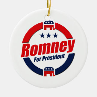 ROMNEY FOR PRESIDENT (Republican) Double-Sided Ceramic Round Christmas Ornament