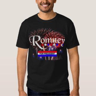 Romney For President With Fireworks T Shirt