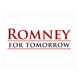 Romney For Tomorrow 2012 Postcard
