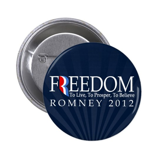 Romney Freedom Button