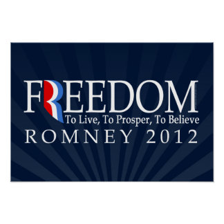 Romney Freedom Poster