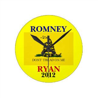 Romney Gadsden flag clock