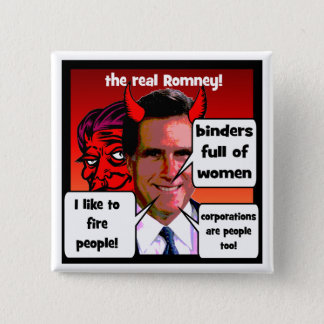 Romney gaffs binder full of women pinback button