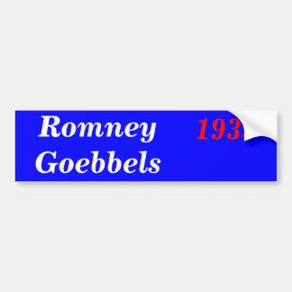 Romney Goebels 1933 Pegatina Para Auto