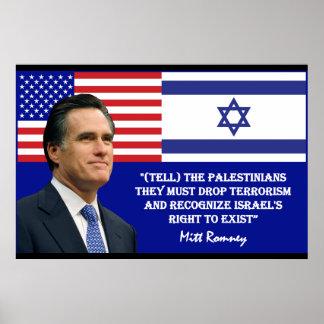 Romney habla Israel Posters