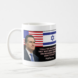 Romney habla Israel Tazas De Café