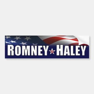 Romney - Haley- 2012 Etiqueta De Parachoque