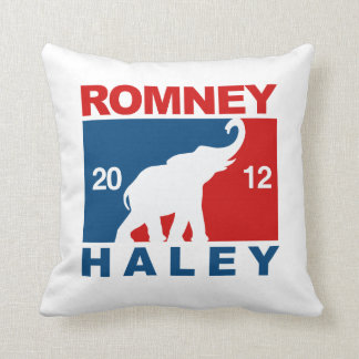 ROMNEY HALEY 2012 PROFESSIONAL ICON.png Throw Pillows
