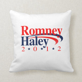 ROMNEY HALEY VP SWEEP.png Throw Pillows
