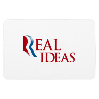 ROMNEY HAS REAL IDEAS.png Rectangular Photo Magnet