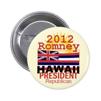 Romney HAWAII Pinback Button