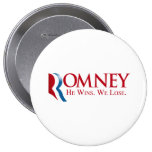 Romney -  He Wins. We Lose Pin
