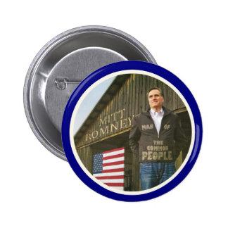 Romney: Hombre de la gente Pin Redondo De 2 Pulgadas