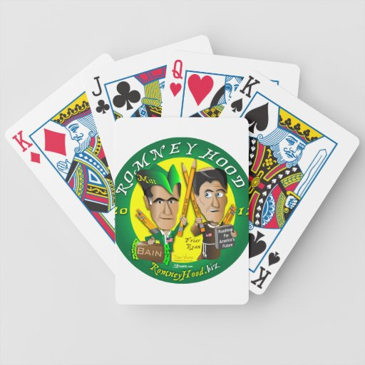 Romney Hood Bicycle Playing Cards