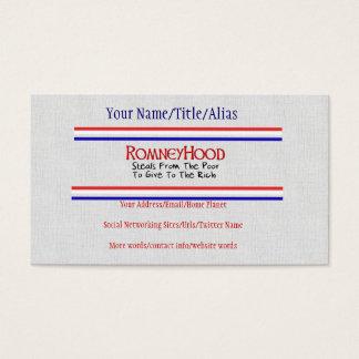 Romney Hood Business Card