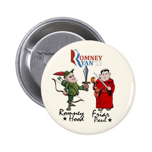 Romney Hood & Friar Paul (Ryan) 2 Inch Round Button