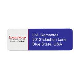 Romney Hood Label