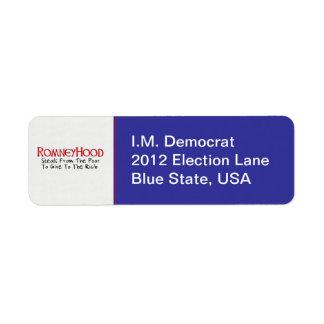 Romney Hood Return Address Label