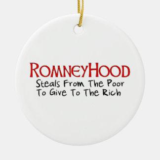 Romney Hood Christmas Tree Ornaments