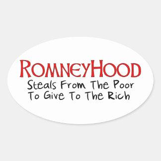 Romney Hood Oval Sticker