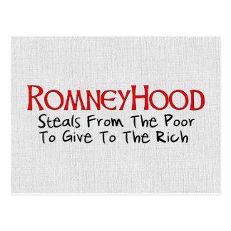 Romney Hood Postcard