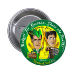 Romney Hood Reduce Deficits 2 Inch Round Button