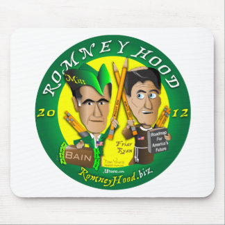Romney Hood Reduce Deficits Mouse Pad