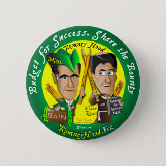 Romney Hood Reduce Deficits Pinback Button