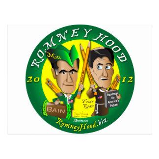 Romney Hood Reduce Deficits Postcard