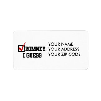 Romney, I guess Address Label