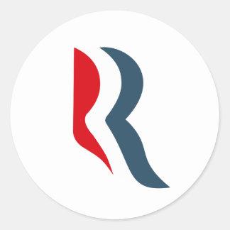 Romney icon round sticker