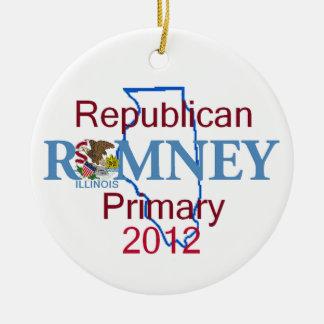 Romney ILLINOIS Ornament