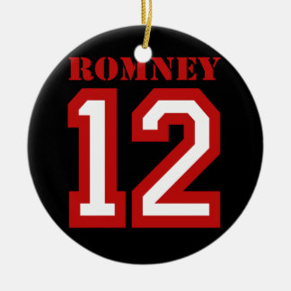 ROMNEY IN 12 Double-Sided CERAMIC ROUND CHRISTMAS ORNAMENT