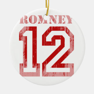 ROMNEY IN 12.png Double-Sided Ceramic Round Christmas Ornament