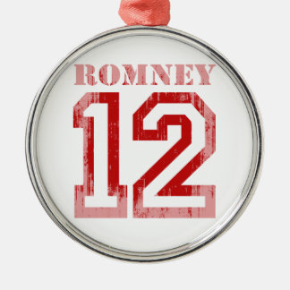 ROMNEY IN 12 ROUND METAL CHRISTMAS ORNAMENT