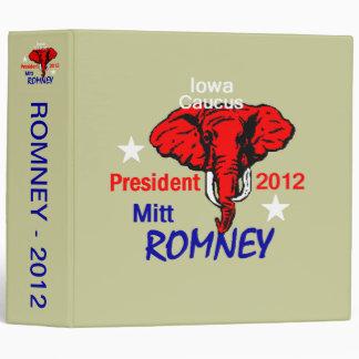ROMNEY Iowa Avery Binder