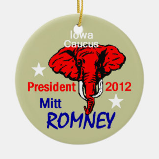 ROMNEY Iowa Ornamnent Ceramic Ornament