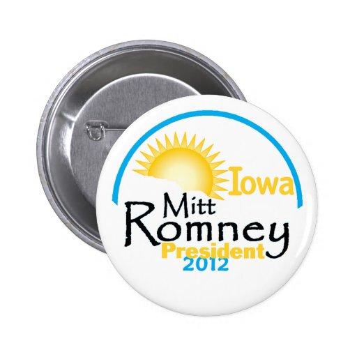 Romney IOWA Pins