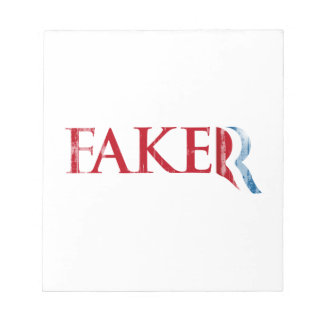Romney is a Faker Faded png Memo Notepads