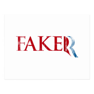 Romney is a Faker.png Postcard