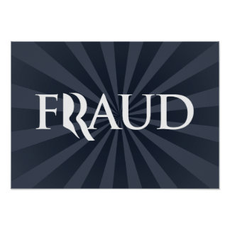 ROMNEY IS A FRAUD -.png Posters
