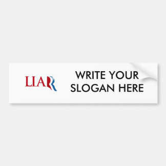 Romney is a Liar Car Bumper Sticker