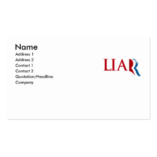 Romney is a Liar Business Card