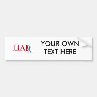 Romney is a Liar Faded.png Car Bumper Sticker
