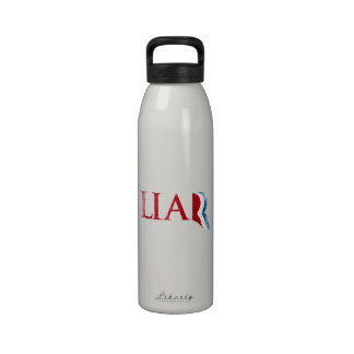 Romney is a Liar Faded.png Reusable Water Bottles