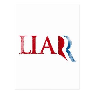 Romney is a Liar.png Postcard