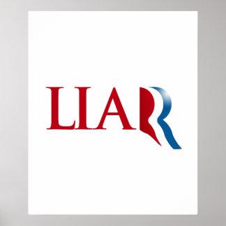 Romney is a Liar Print