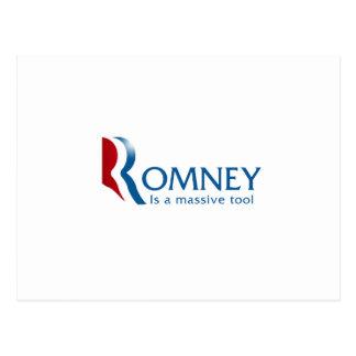Romney is a massive tool postcard