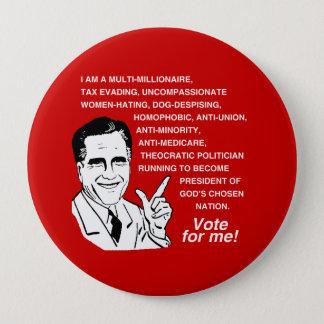 Romney is a multi-millionaire -.png pinback button