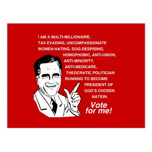 Romney is a multi-millionaire -.png postcard